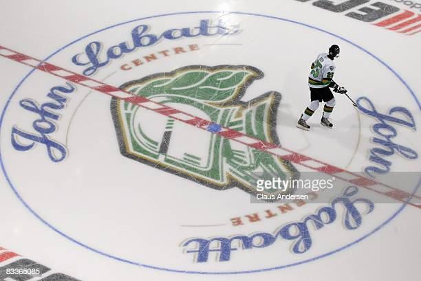 Vladimir Roth of the London Knights skates at centre ice in a game against the Kitchener Rangers on October 19 2008 at the John Labatt Centre in...