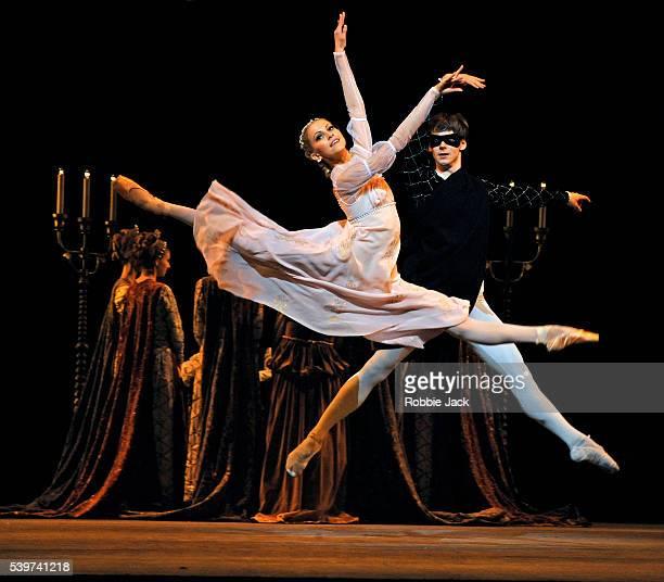 "Vladimir Shklyarov as Romeo and Alina Somova as Juliet in the Mariinsky Ballet's production of Leonid Lavrovsky's ballet ""Romeo and Juliet"" at the..."