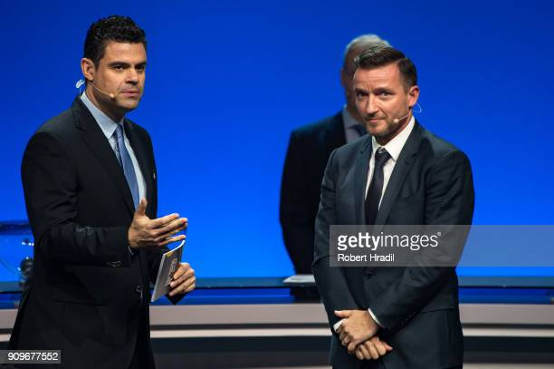 Vladimir Smicer Czech Republic former professional football player looks on during the UEFA Nations League Draw 2018 at Swiss Tech Convention Center...