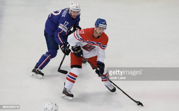 Vladimir Sobotka of Czech Republic in action during the 2017 IIHF Ice Hockey World Championship game between France and Czech Republic at AccorHotels...