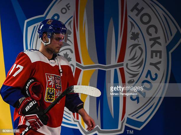 Vladimir Sobotka of Team Czech Republic makes his way to the locker room during the World Cup of Hockey 2016 against Team USA at Air Canada Centre on...