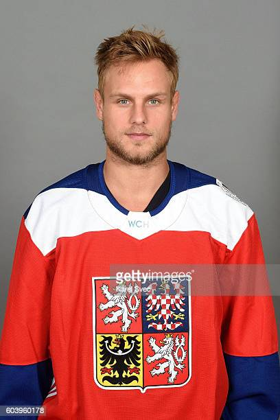 Vladimir Sobotka of Team Czech Republic poses for his official World Cup of Hockey head shot at the Czech Ice Hockey Association on September 5 2016...