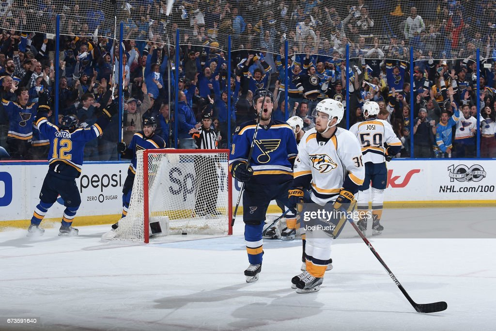 Nashville Predators v St Louis Blues - Game One