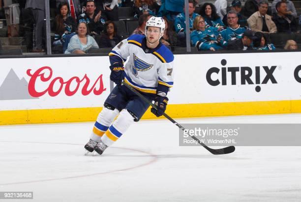 Vladimir Sobotka of the St Louis Blues skates against the San Jose Sharks at SAP Center on March 8 2018 in San Jose California Vladimir Sobotka