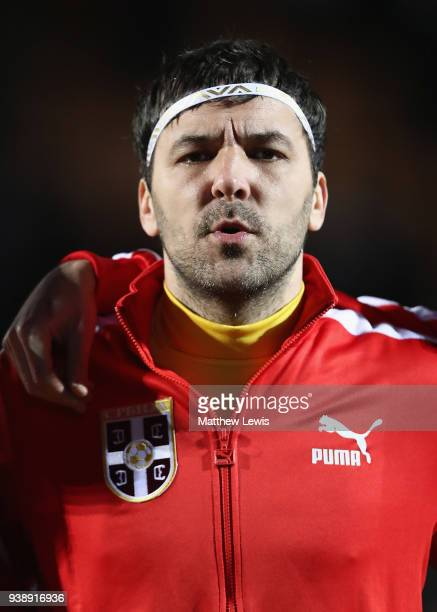 Vladimir Stojkovic of Serbia pictured ahead of the International Friendly match between Nigeria and Serbia at The Hive on March 27 2018 in Barnet...