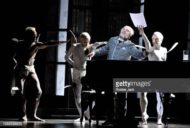 Vladimir Stoyanov as Prince Yeletsky with artists of the company in Pyotr Il'yich Tchaikovsky's The Queen of Spades directed by Stefan Herheim and...