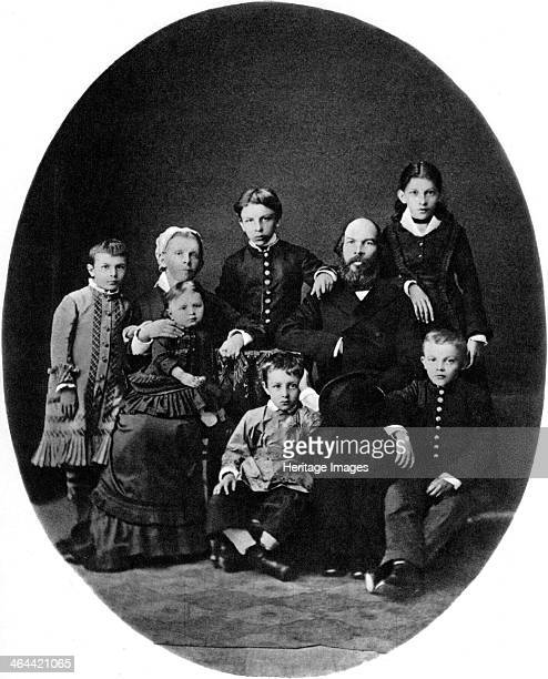 Vladimir Ulyanov as a grammar school pupil with his family Simbirsk Russia 1879 Future Bolshevik revolutionary leader Lenin with his parents Ilya...