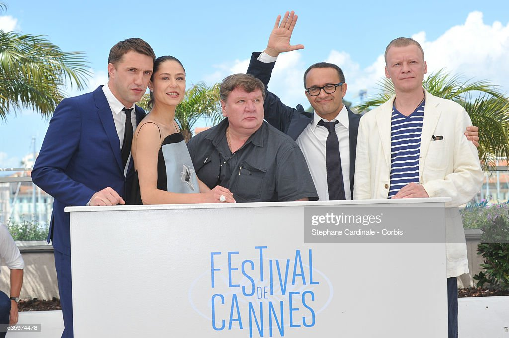 Vladimir Vdovichenkov, Yelena Lyadova, Roman Madyanov and Aleksey Serebryakov attend the 'Leviathan' photocall during the 67th Cannes Film Festival