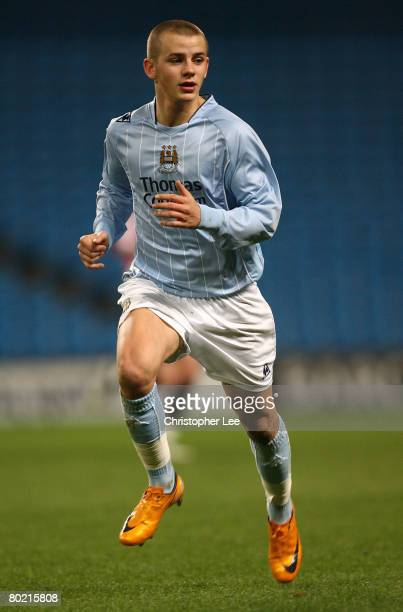 Vladimir Weiss of Manchester City in action during the FA Youth Cup Sponsored by eon Semi Final Second Leg match between Manchester City and...