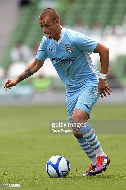 Vladimir Weiss of Manchester City runs with ball during the Dublin Super Cup match between Manchester City and Airtricity XI at Aviva Stadium on July...