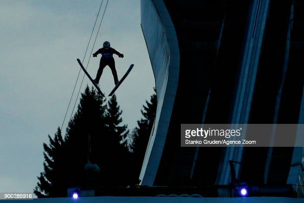 Vladimir Zografski of Bulgaria in action during the FIS Nordic World Cup Four Hills Tournament on January 1 2018 in GarmischPartenkirchen Germany
