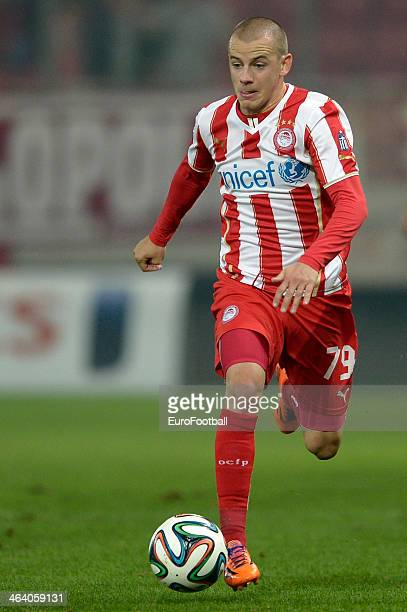 Vladimír Weiss of Olympiacos dribbles with the ball during the Greek Superleague match between Olympiacos and Levadiakos at the Georgios Karaiskakis...