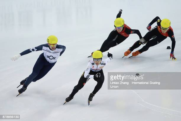 Vladislav Bykanov of Israel First place winner Jiwon Park of Korea and Ren Ziwei and Chen Dequan of China compete in the Men's 1500m final duirng the...