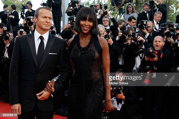 Vladislav Doronin and Naomi Campbell attend the 'Wall Street Money Never Sleeps' Premiere at the Palais des Festivals during the 63rd Annual Cannes...