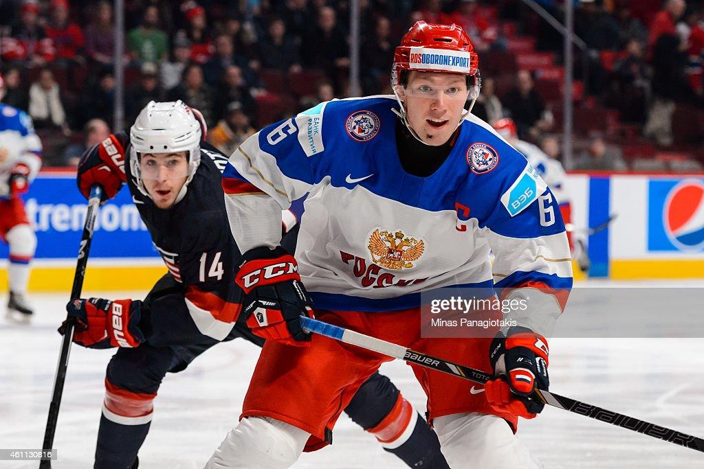 2015 IIHF World Junior Championship - Quarterfinal - United States v Russia : News Photo