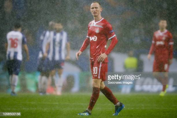 Vladislav Ignatyev of Lokomotiv Moscow, disappointed after the game during the UEFA Champions League match between FC Porto v Lokomotiv Moscow at the...