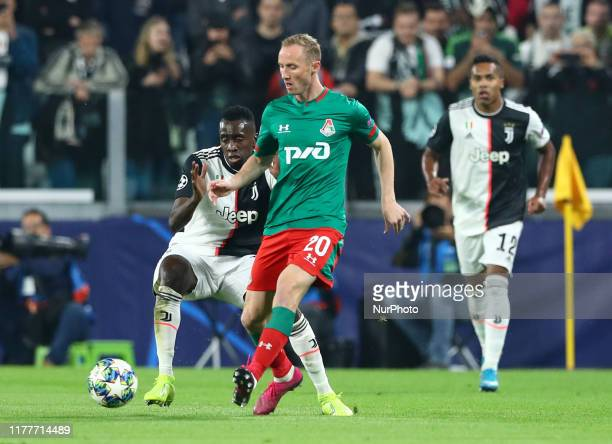 Vladislav Ignatyev of Lokomotiv Moskva in action during the UEFA Champions League Group stage match FC Juventusv v FC Lokomotiv Moskva at the Allianz...