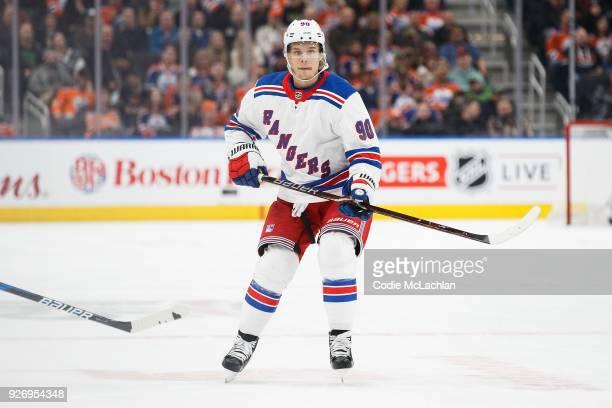 Vladislav Namestnikov of the New York Rangers skates against the Edmonton Oilers at Rogers Place on March 3 2018 in Edmonton Canada