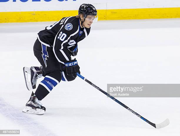 Vladislav Namestnikov of the Tampa Bay Lightning skates against the Florida Panthers during second period at the Amalie Arena on November 14 2015 in...