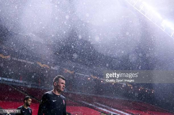 Vladyslav Kochergin of Zorya Luhansk looks on during the UEFA Europa League Group G stage match between SC Braga and Zorya Luhansk at Estadio...