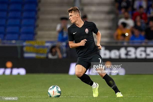 Vladyslav Kochergin of Zoryan Luhansk during the UEFA Europa League Play Off match between Espanyol and Zoryan Luhansk at on August 22, 2019 in...