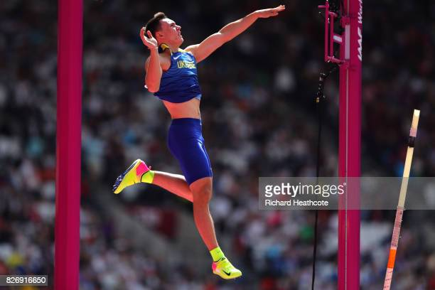Vladyslav Malykhin of Ukraine competes in the Men's Pole Vault qualification during day three of the 16th IAAF World Athletics Championships London...