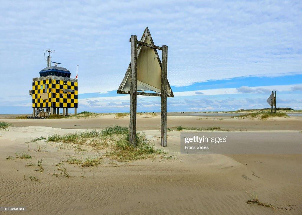 Vliehors Range Control Tower, Vlieland, Netherlands : Stockfoto