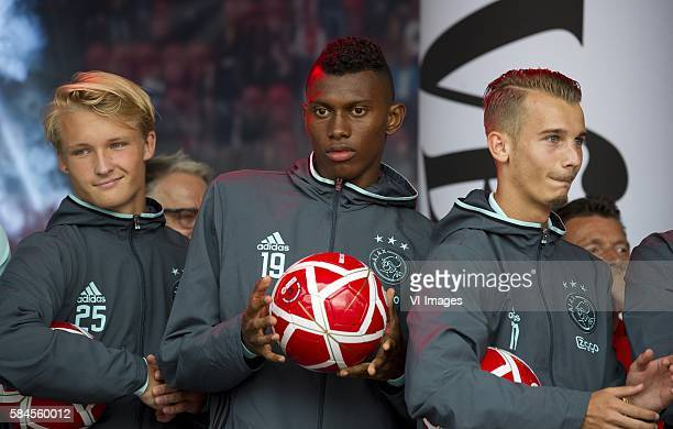 Vlnr. Kasper Dolberg . Mateo Cassierra en Vaclac Cerny Foto: SCS/Michel Utrecht during the open day of Ajax on july 29, 2016 at the ArenaPark in...