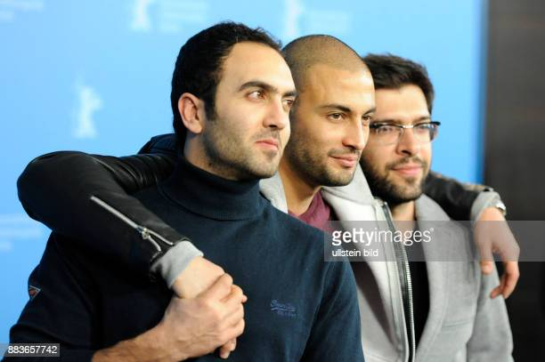 Schauspieler Homayoun Ghanizadeh Amir Jadidi Ehsan Goudarz während des Photocalls zum Film A DRAGON ARRIVES anlässlich der 66 Internationalen...
