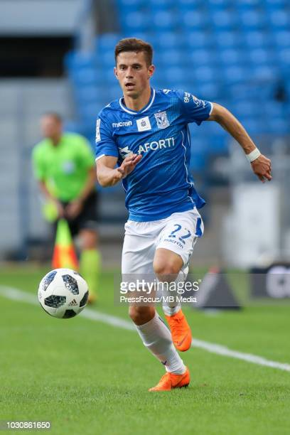 Vlodymyr Kostevych in action during Lotto Ekstraklasa match between Lech Poznan and Cracovia on July 29 2018 in Poznan Poland