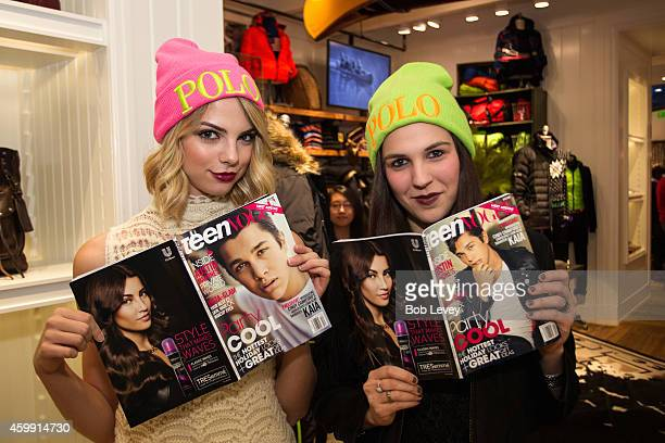 Vlogger Allie Marie Evans and Teen Vogue Editor Kirby Marzec at the Teen Vogue and Polo Ralph Lauren December 2014 Houston Store Opening on December...