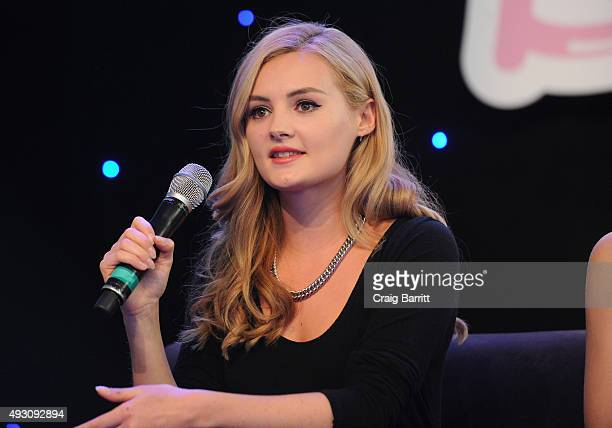 Vlogger Niomi Smart speaks onstage during the 2nd Annual BeautyCon New York City Festival at Pier 36 on October 17 2015 in New York City