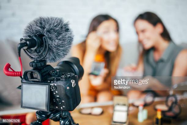 Vloggers reviewing make-up products