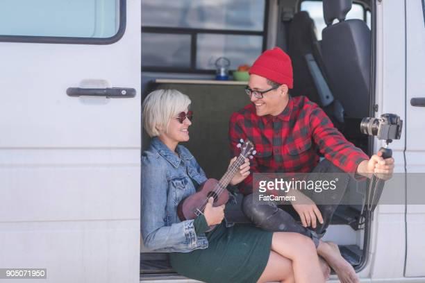 VLogging in een busje