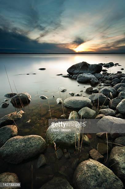 Vänern lake in sunset