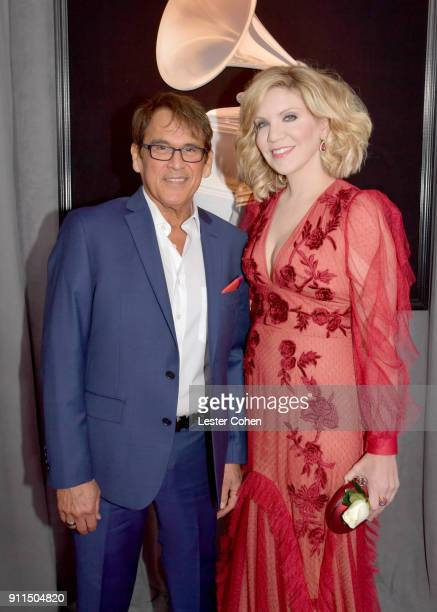 Vocal coach Ron Browning and recording artist Alison Krauss attends the 60th Annual GRAMMY Awards at Madison Square Garden on January 28 2018 in New...