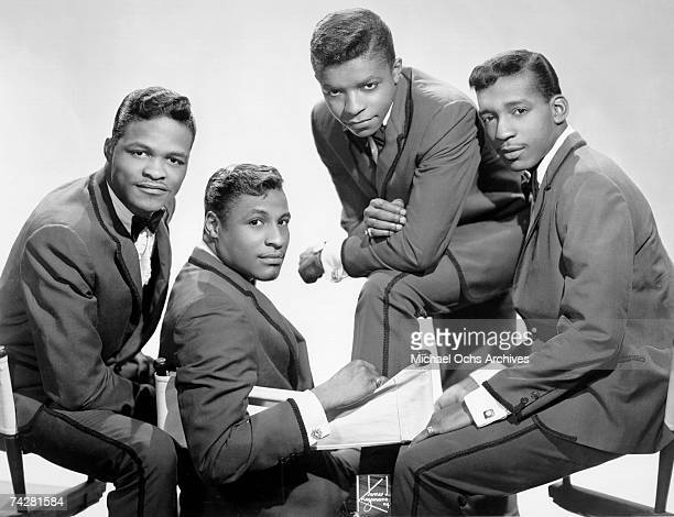 B vocal group 'Little Anthony The Imperials' pose for a portrait in circa 1964 in New York City New York Ernest Wright Sammy Strain Anthony 'Little...