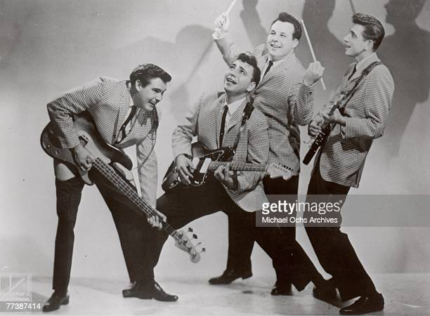 Vocal group The Fireflies pose for a portrait in 1959