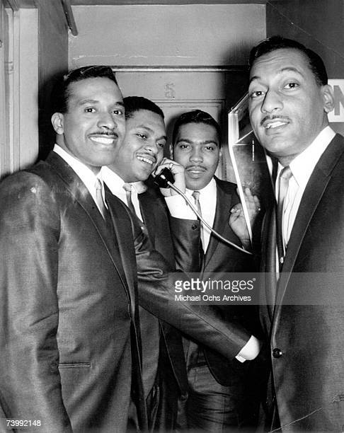 B vocal group The Four Tops pose for a portait backstage in 1965 in New York City New York Levi Stubbs Ronaldo Obie Benson Lawrence Payton Abdul Duke...