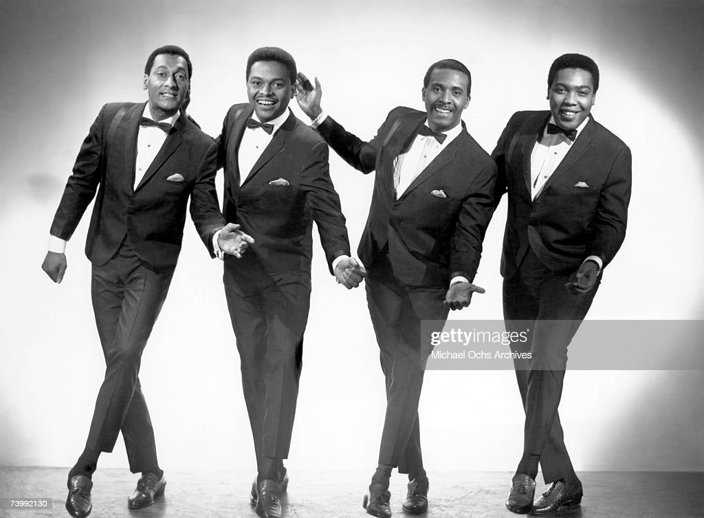 R&B vocal group 'The Four Tops' pose for a portait in 1965 in New York City, New York. (L-R) Abdul 'Duke' Fakir, Ronaldo 'Obie' Benson, Levi Stubbs, Lawrence Payton.