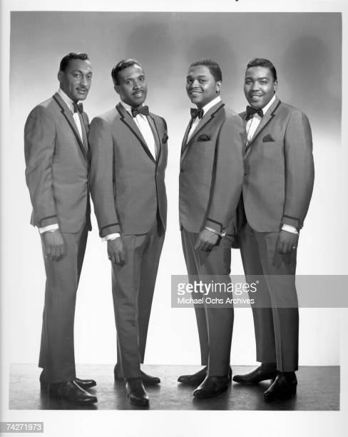 B vocal group The Four Tops pose for a portrait circa 1964 in New York City New York Abdul Duke Fakir Levi Stubbs Renaldo Obie Benson and Lawrence...