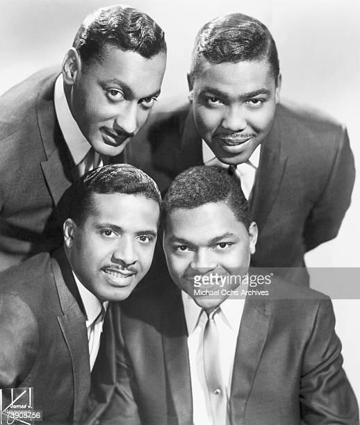 B vocal group The Four Tops pose for a portrait in 1964 in New York City New York Bottom row LR Levi Stubbs Renaldo Obie Benson Top row LR Abdul Duke...