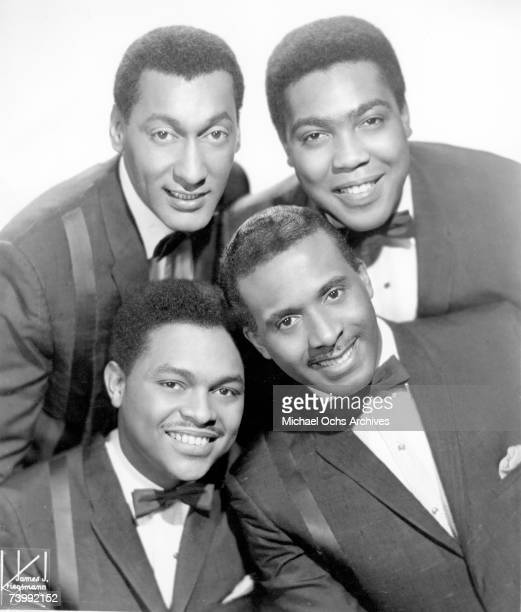 B vocal group The Four Tops pose for a portrait in 1965 in New York City New York Clockwise from top left Abdul Duke Fakir Lawrence Payton Levi...