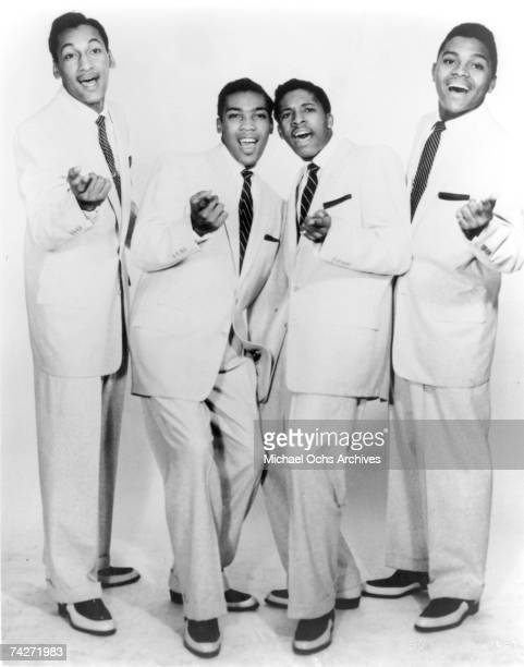 B vocal group The Four Tops pose for a portrait in circa 1964 Abdul Duke Fakir Lawrence Payton Levi Stubbs Ronaldo Obie Benson