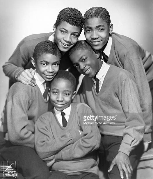 Vocal group The Schoolboys pose for a portrait in 1957