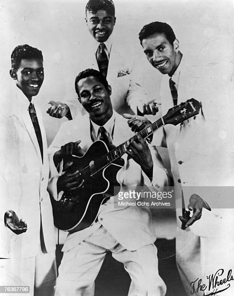 Vocal group The Wheels pose for a 1955 portrait