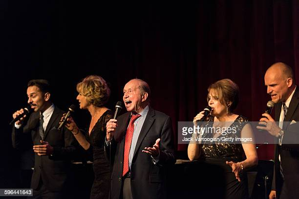 Vocalese Jazz group the Royal Bopsters Project performs onstage with special guests at Birdland Jazz club New York New York September 16 2015...