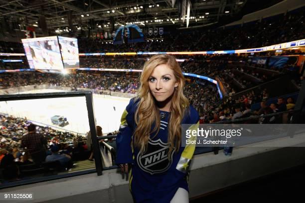 Vocalilst Lindsay Ell attends the 2018 Honda NHL AllStar Game at Amalie Arena on January 28 2018 in Tampa Florida