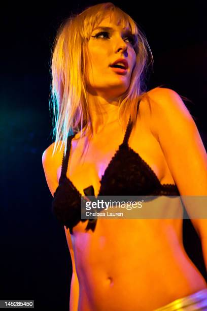 Vocalist Ace of Diamonds performs with Diamond Baby at The Viper Room on May 24 2012 in West Hollywood California