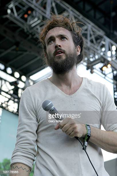 Vocalist Alex Ebert performs in concert with Edward Sharpe And The Magnetic Zeros during day 3 of the Austin City Limits Music Festival at Zilker...